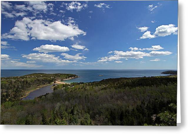 Maine Beach Greeting Cards - Sand Beach and Cliffs of Great Head Greeting Card by Juergen Roth