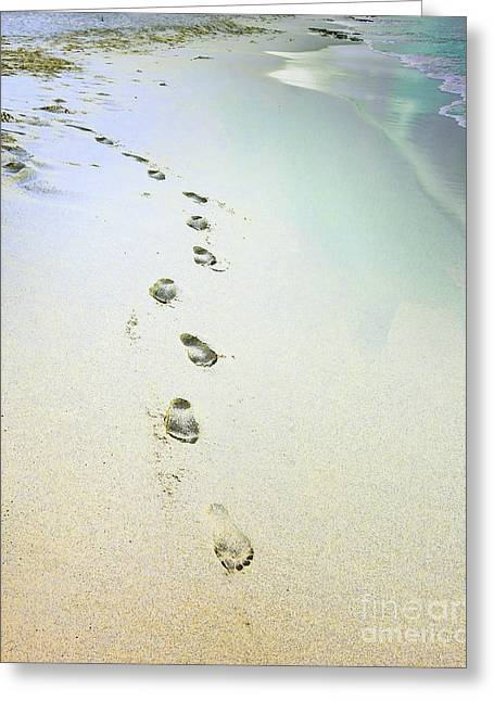 Sand Between My Toes Greeting Card by Betty LaRue