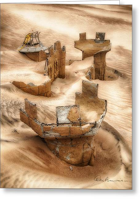 Sand Castles Greeting Cards - Sand Castle 4065 Greeting Card by Dan Beauvais