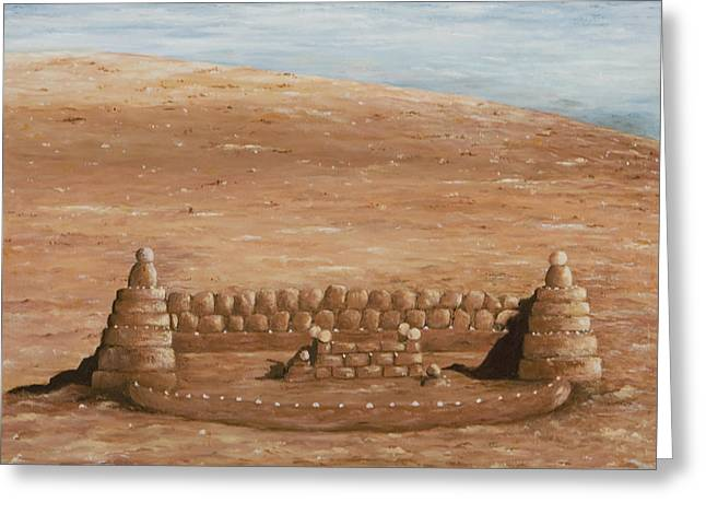 Sand Castles Greeting Cards - Sand castle at Lake Powell Greeting Card by Mary Ann King