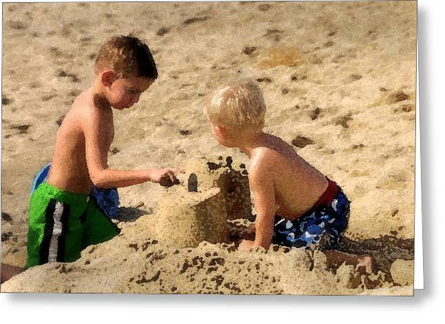 Best Sellers -  - Sand Castles Greeting Cards - Sand Castle Greeting Card by Lyle  Huisken