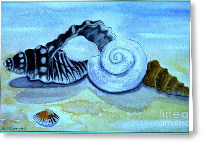 Sand Castles Mixed Media Greeting Cards - Sand Castles Greeting Card by Leanne Seymour