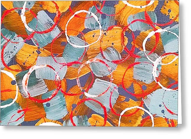 Sand Patterns Mixed Media Greeting Cards - Sand Circles Greeting Card by Jilian Cramb