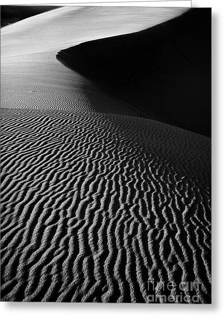 Coral Pink Sand Dunes Greeting Cards - Sand creation - black and white Greeting Card by Hideaki Sakurai
