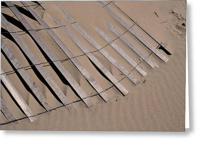 Sand Fences Photographs Greeting Cards - Sand Drift Greeting Card by Odd Jeppesen