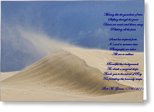 """commercial Photography Art Prints"" Greeting Cards - Sand Dune and Verse Greeting Card by Ray Keeling"