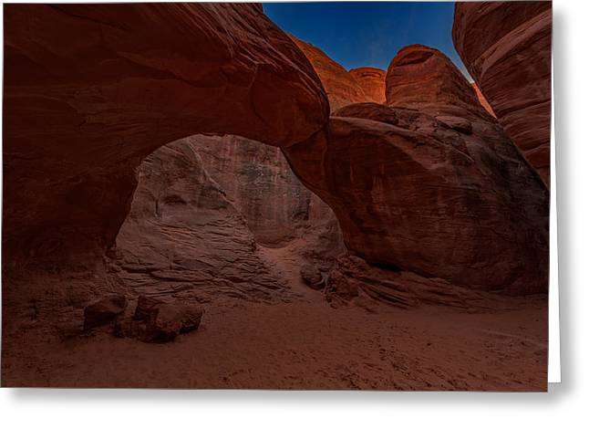 Monolith Greeting Cards - Sand Dune Arch II Greeting Card by Rick Berk