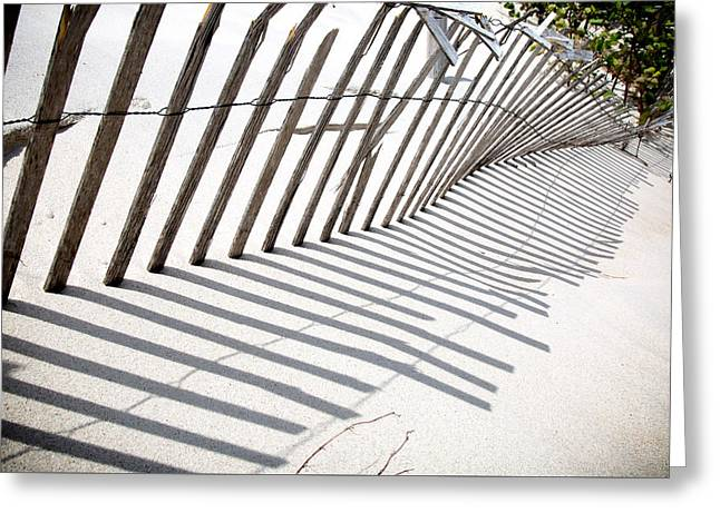 Mayflower Beach Greeting Cards - Sand Fence After Winter Greeting Card by Rob Weisman