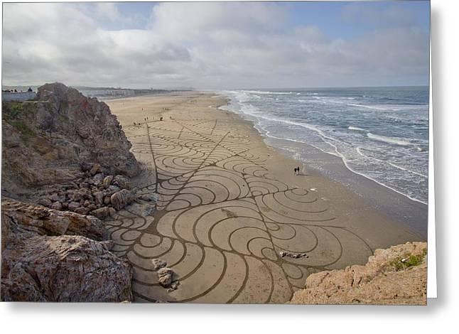 Sand Greeting Card by Jane Hu