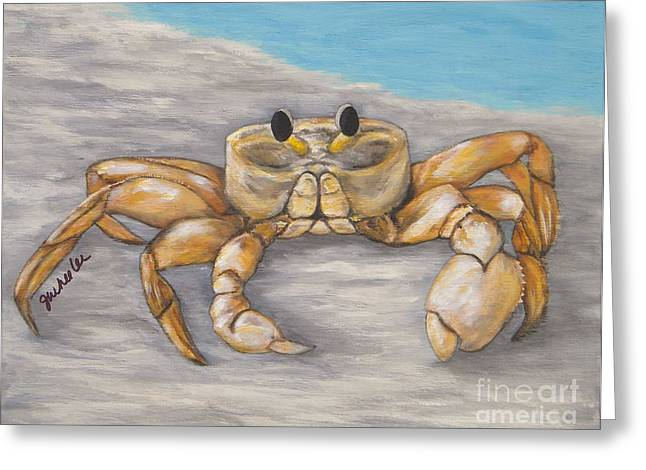 Recently Sold -  - Ocean Shore Greeting Cards - Sand n Shore Greeting Card by JoAnn Wheeler