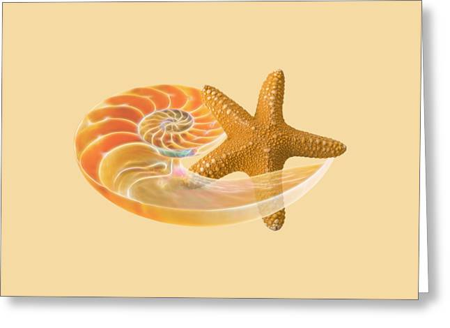 Geometric Artwork Greeting Cards - Sand Treasure Greeting Card by Gill Billington
