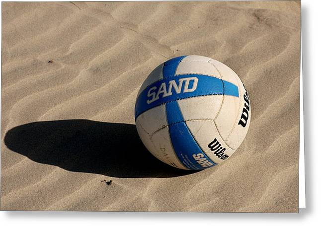 Sand Patterns Greeting Cards - Sand Vollyball Greeting Card by Art Block Collections