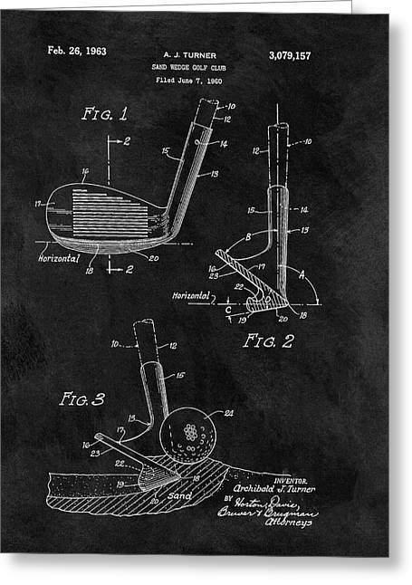 Sand Wedge Patent Greeting Card by Dan Sproul