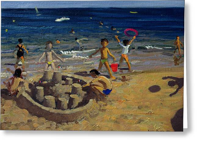 Constructed Greeting Cards - Sandcastle Greeting Card by Andrew Macara