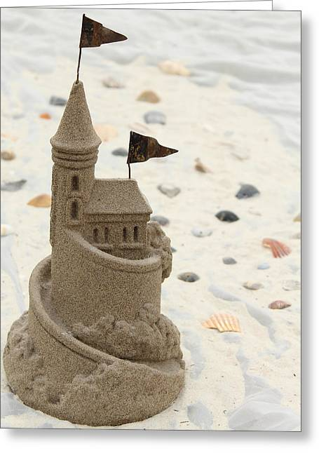 Sand Castles Greeting Cards - Sandcastle Greeting Card by Denise Young