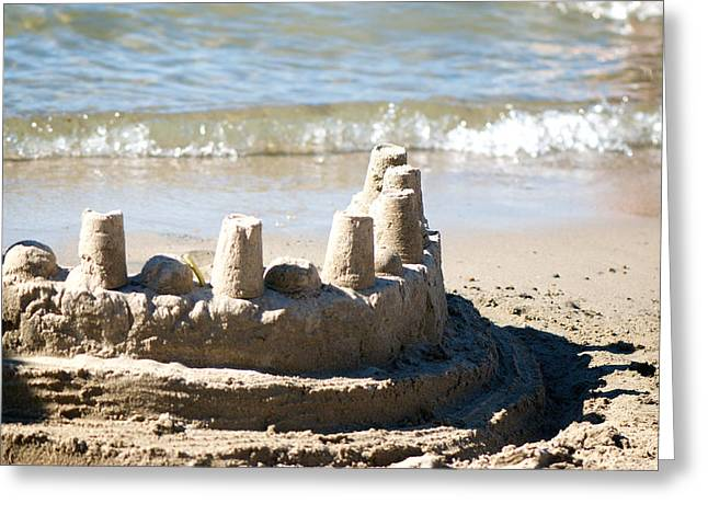 Sand Castles Photographs Greeting Cards - Sandcastle  Greeting Card by Lisa Knechtel