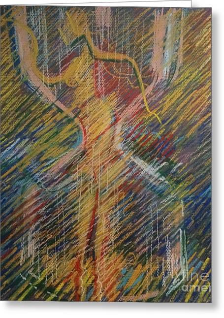 Clock Pastels Greeting Cards - Sandglass Greeting Card by Nelya Pinchuk