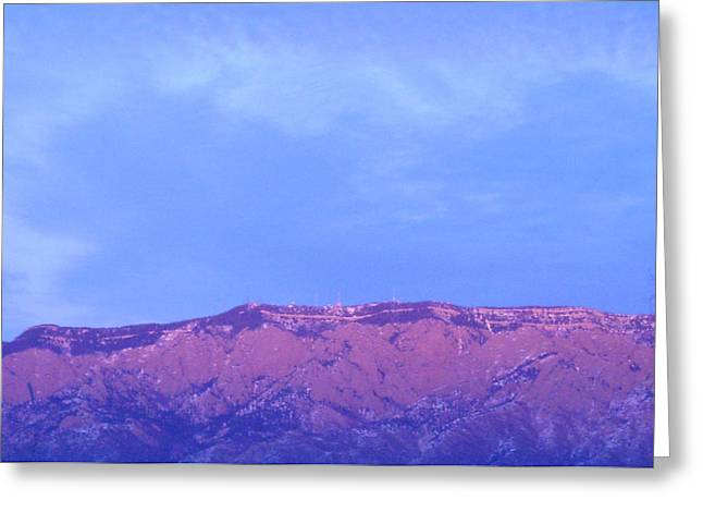 Watermelon Greeting Cards - Sandia Mountains Greeting Card by Jera Sky