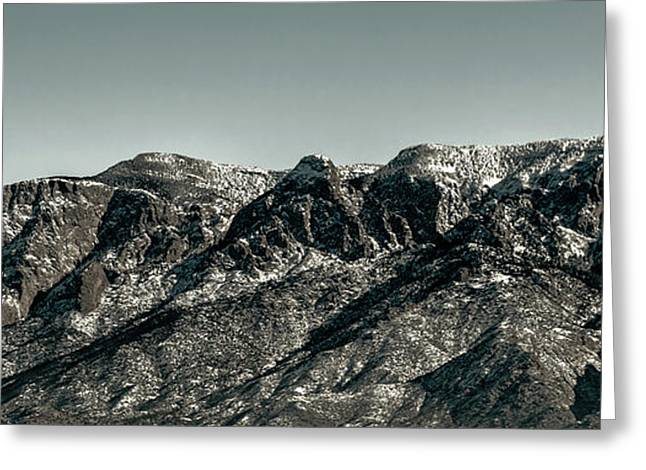Watermelon Greeting Cards - Sandia Mountains Greeting Card by Jon Burch Photography