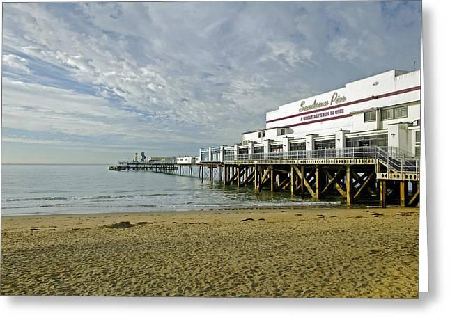 Seaside Greeting Cards - Sandown Pier Greeting Card by Rod Johnson