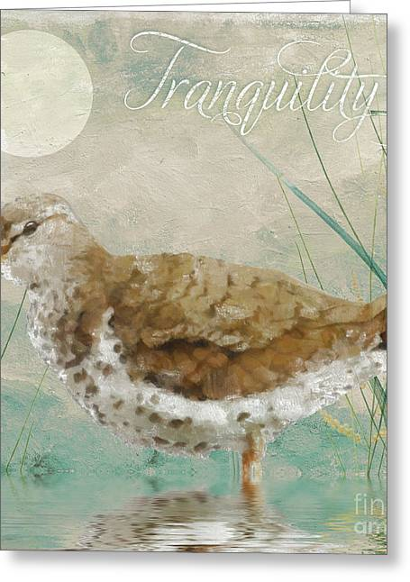 Sandpiper II Greeting Card by Mindy Sommers