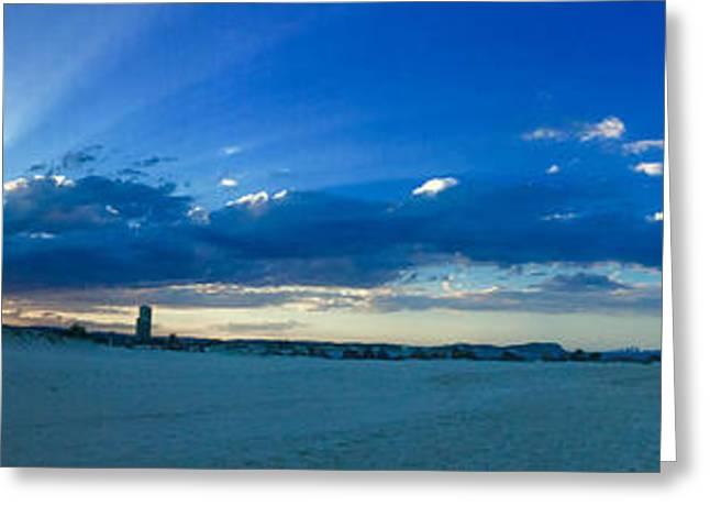 Panoramic Ocean Greeting Cards - Sands of Currumbin Greeting Card by Anthony Robinson