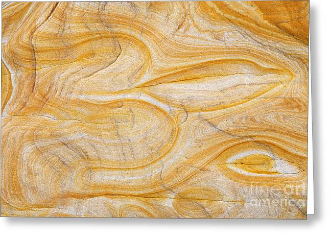 Geology Photographs Greeting Cards - Sandstone Aum Greeting Card by Tim Gainey