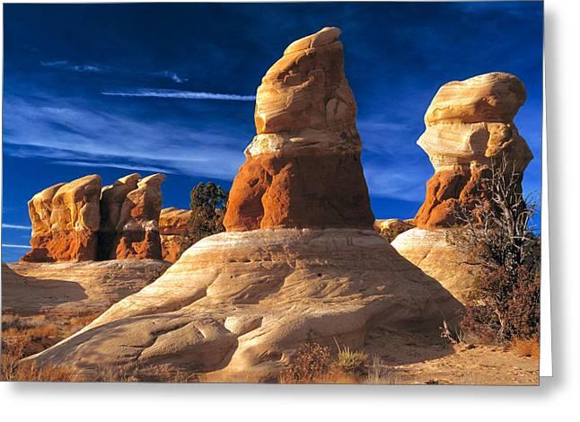 Best Sellers -  - Slickrock Greeting Cards - Sandstone Hoodoos in Utah Desert Greeting Card by Utah Images