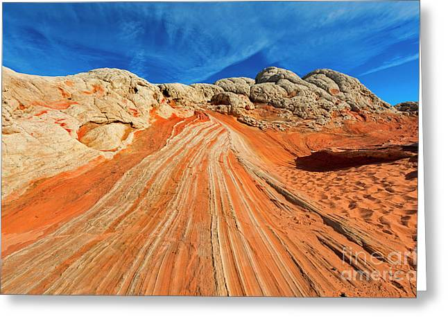 Sandstone Racetrack Greeting Card by Mike Dawson