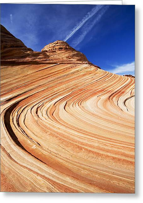 The Butte Greeting Cards - Sandstone Slide Greeting Card by Mike  Dawson
