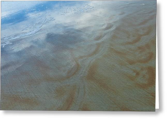 Sandy Beach Abstract Greeting Card by Carolyn Marshall
