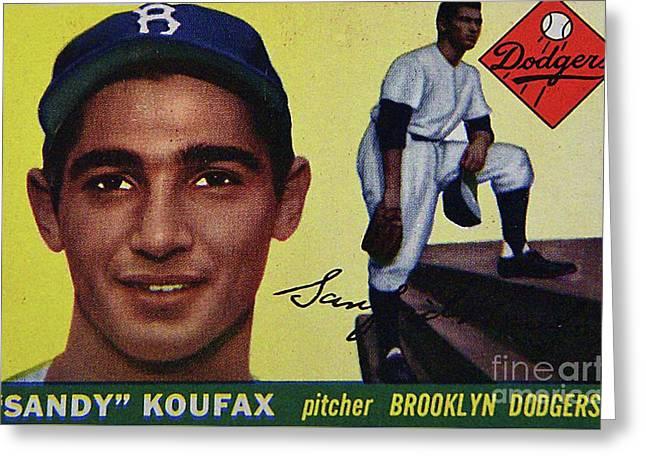 Sandy Koufax-brooklyn Dodgers Greeting Card by Arnie Goldstein