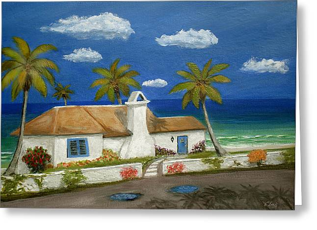 Tropical Beach Greeting Cards - Sandy Point Greeting Card by Gordon Beck