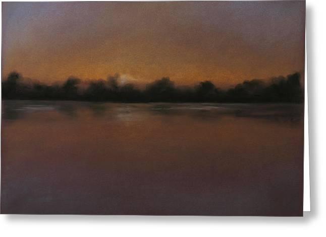 Peaceful Scenery Pastels Greeting Cards - Sandy Ridge 3 Greeting Card by Gary Sluzewski