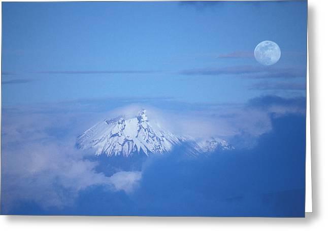 Moonrise Greeting Cards - Sangay Volcano Ecuador Greeting Card by Panoramic Images