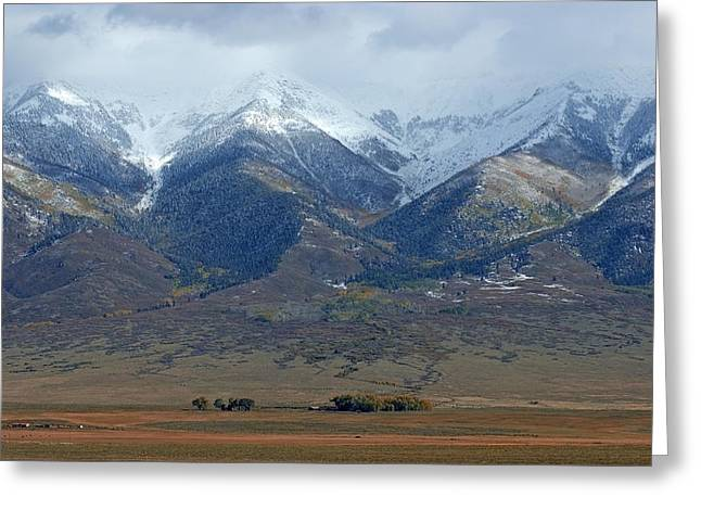 Sangre De Cristo First Snow Greeting Card by Merja Waters