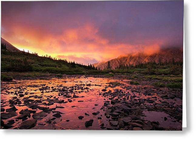 Sangre De Cristo Greeting Cards - Sangre de Cristo Sunset   Greeting Card by Aaron Spong