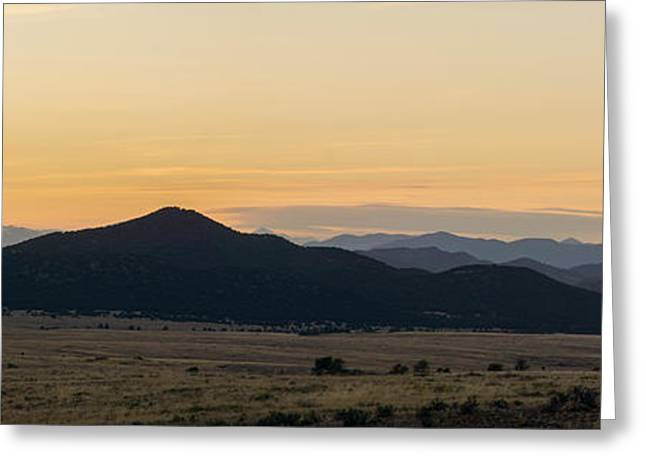 Sangre De Cristo Greeting Cards - Sangre de Cristo Sunset 2 Greeting Card by Aaron Spong
