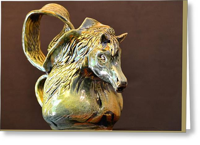 Pitcher Sculptures Greeting Cards - Sangria  Greeting Card by Christine Mertin