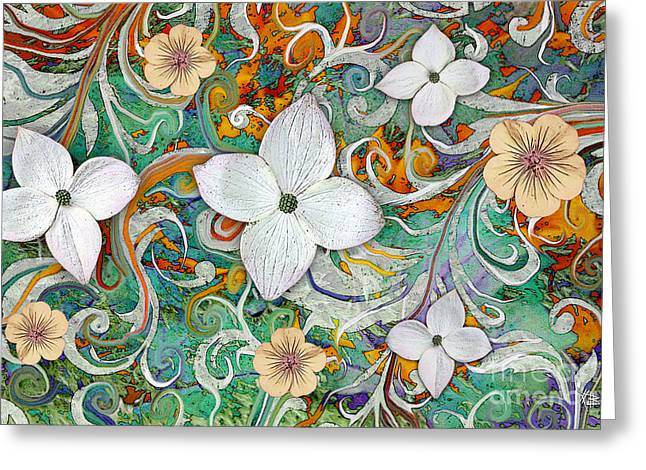 Floral Prints Greeting Cards - Sangria Flora Greeting Card by Christopher Beikmann