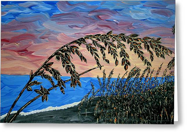Sunset Prints Greeting Cards - Sanibel Dunes Greeting Card by Nick Flavin