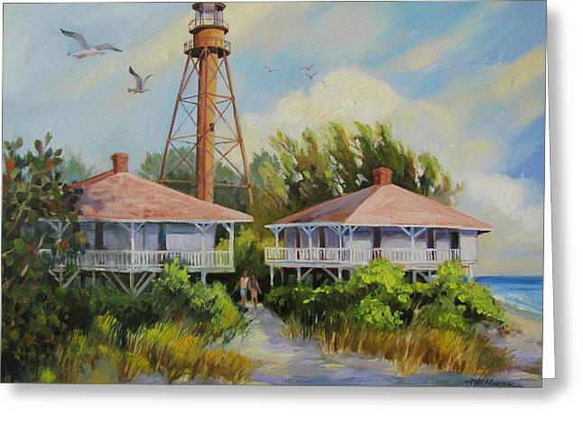 Florida Landscape Greeting Cards - Sanibel Lighthouse Greeting Card by Dianna  Willman