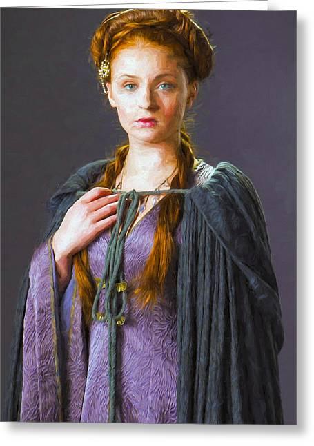 Creative People Greeting Cards - Sansa Stark I - Game Of Thrones Greeting Card by Nikola Durdevic