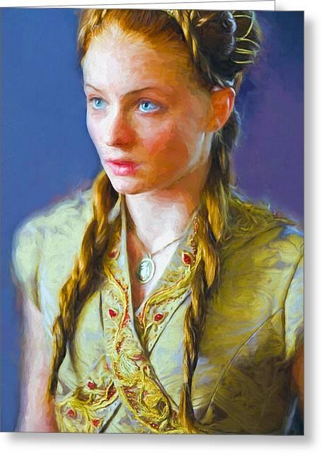 Creative People Greeting Cards - Sansa Stark III - Game Of Thrones Greeting Card by Nikola Durdevic