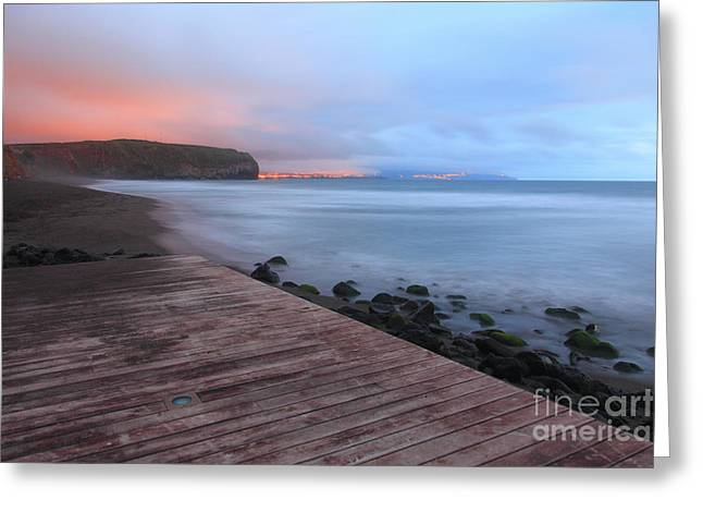 Oceanscape Greeting Cards - Santa Barbara beach Greeting Card by Gaspar Avila