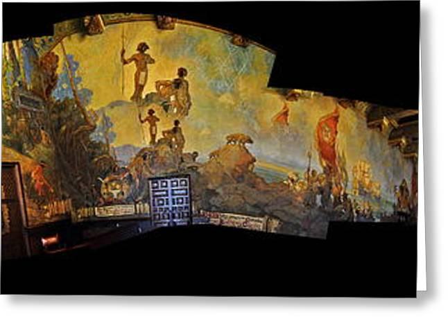 Clayton Greeting Cards - Santa Barbara Hall Of Murals Greeting Card by Clayton Bruster