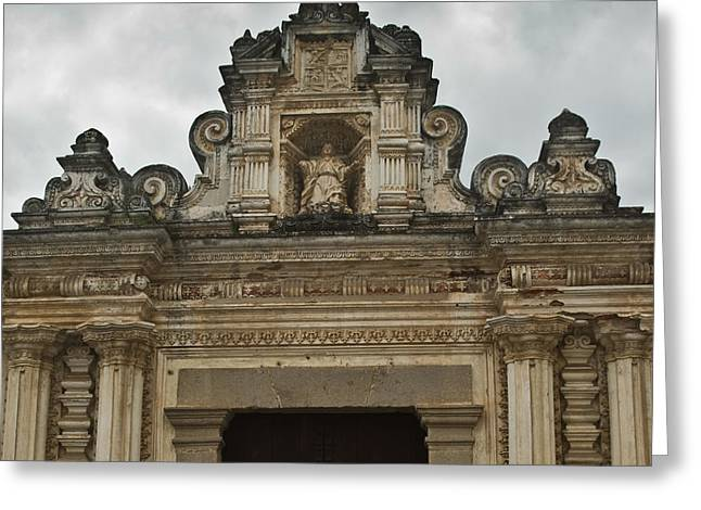 Lintel Greeting Cards - Santa Clara Antigua Guatemala Ruins  Greeting Card by Douglas Barnett
