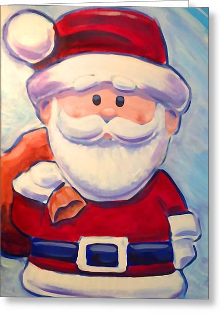 Santa Claus Greeting Card by Geoff Strehlow