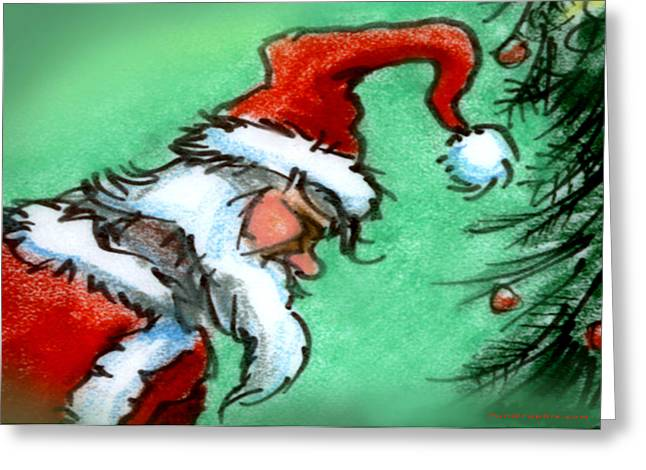 Santa Claus Greeting Card by Kevin Middleton