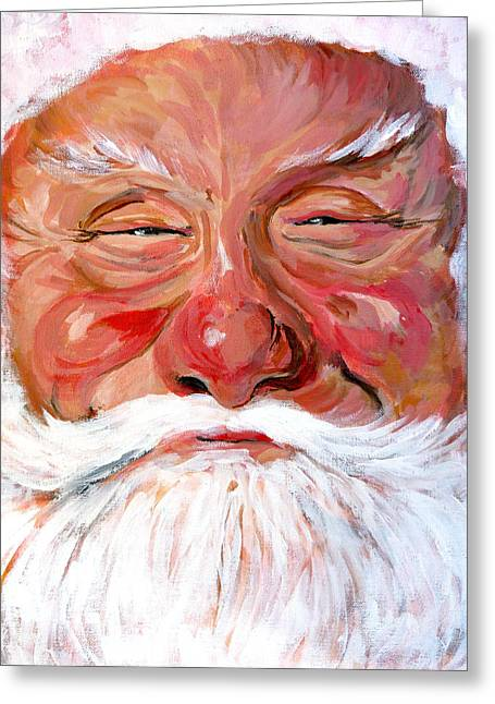 Santa Greeting Cards - Santa Claus Greeting Card by Tom Roderick